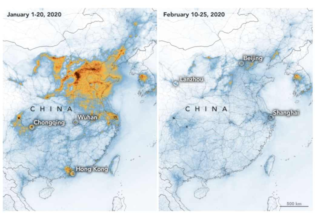 Reduction of China's air pollution